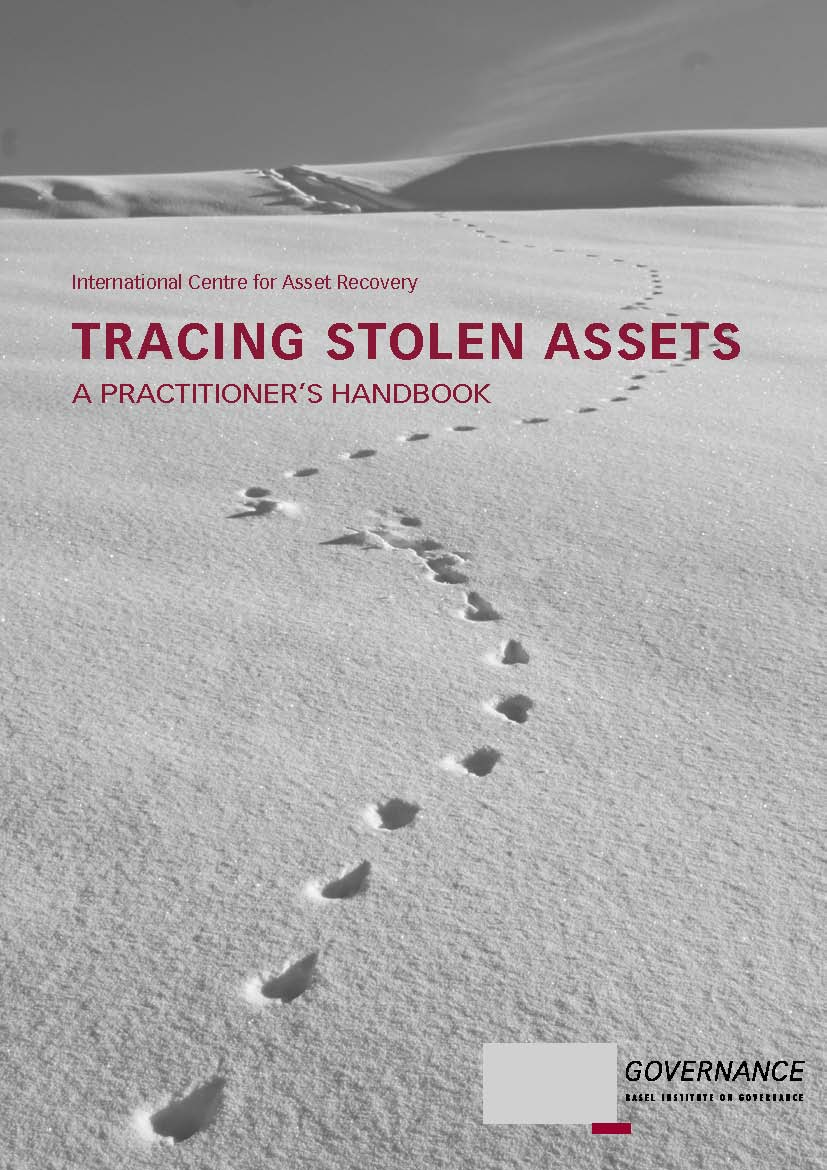 Tracing Stolen Assets handbook front cover