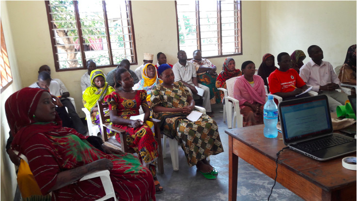 Group of women participate in a workshop in Tanzania