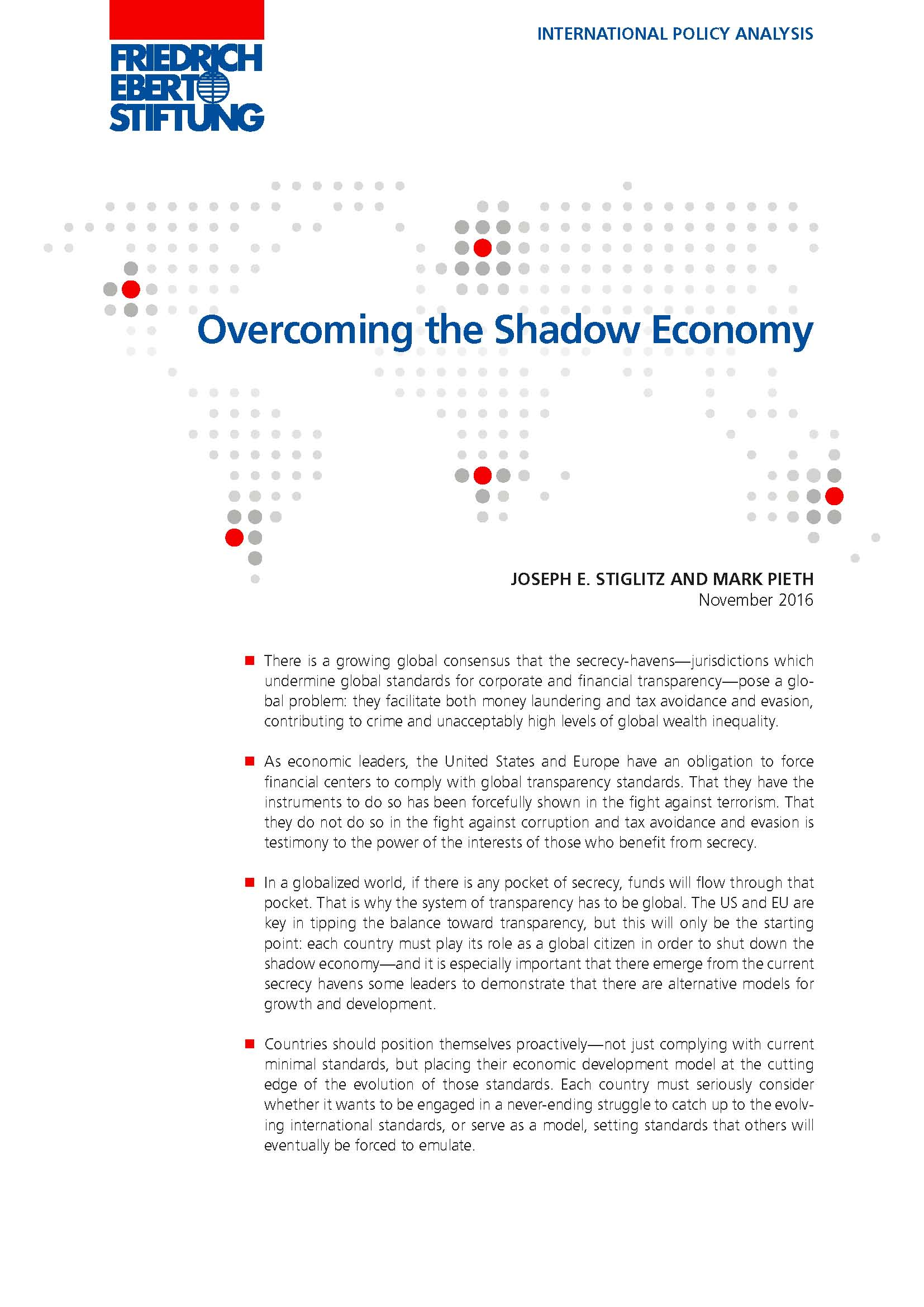 First page of Overcoming the Shadow Economy report