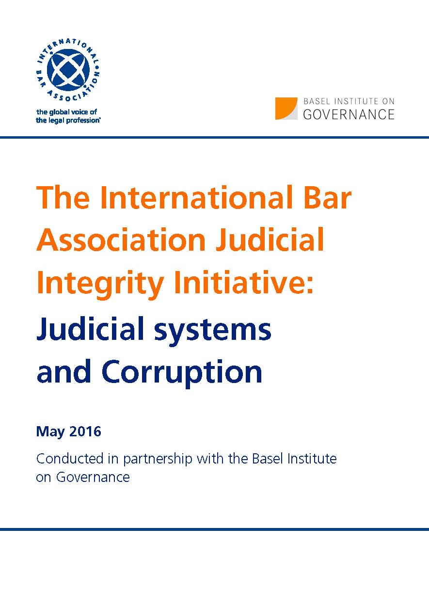 Cover page of Judicial systems and corruption report
