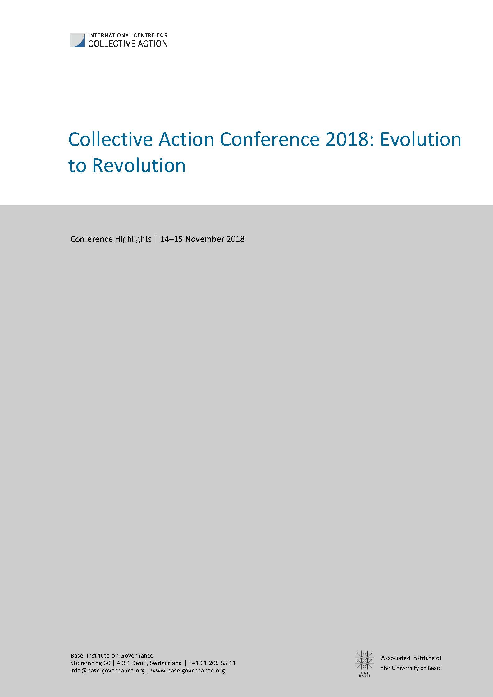 Collective Action Conference highlights cover page
