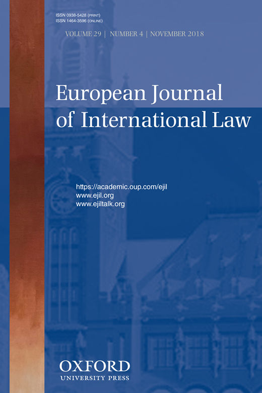 European Journal of International Law cover