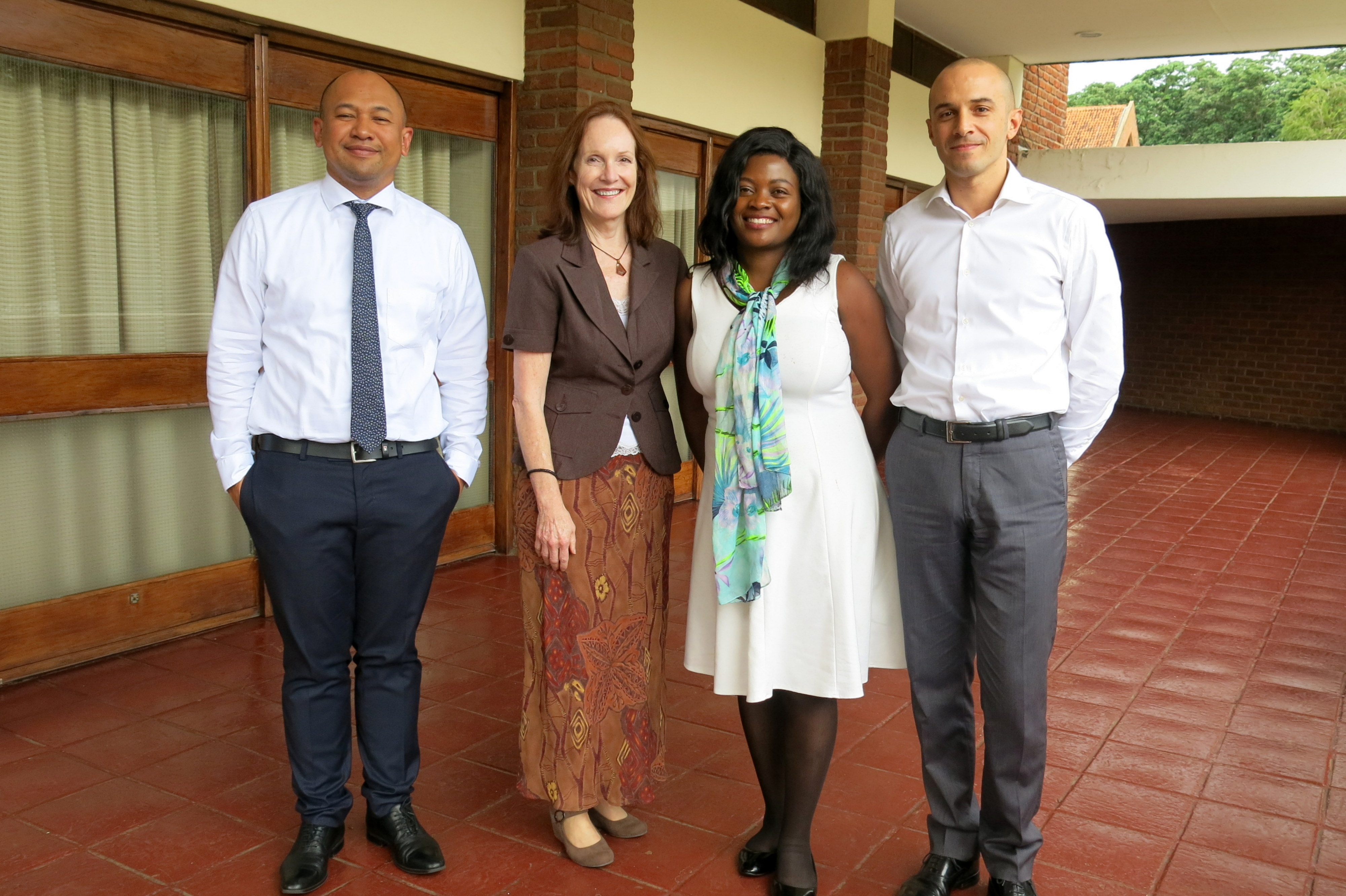 ICAR trainers and Jean Priminta in Malawi