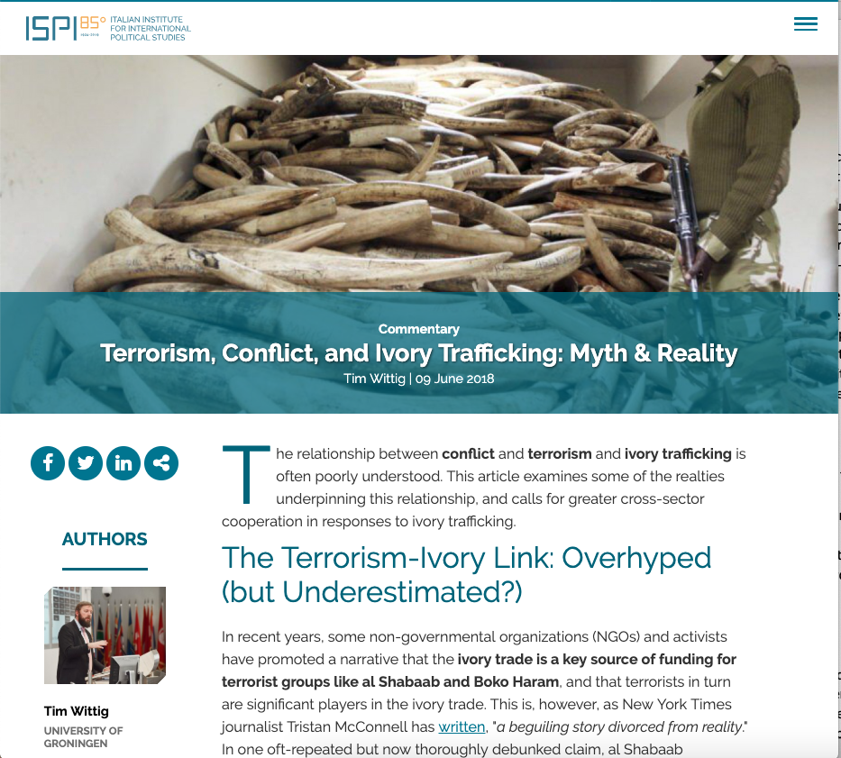 Terrorism Conflict and Ivory Trafficking screenshot