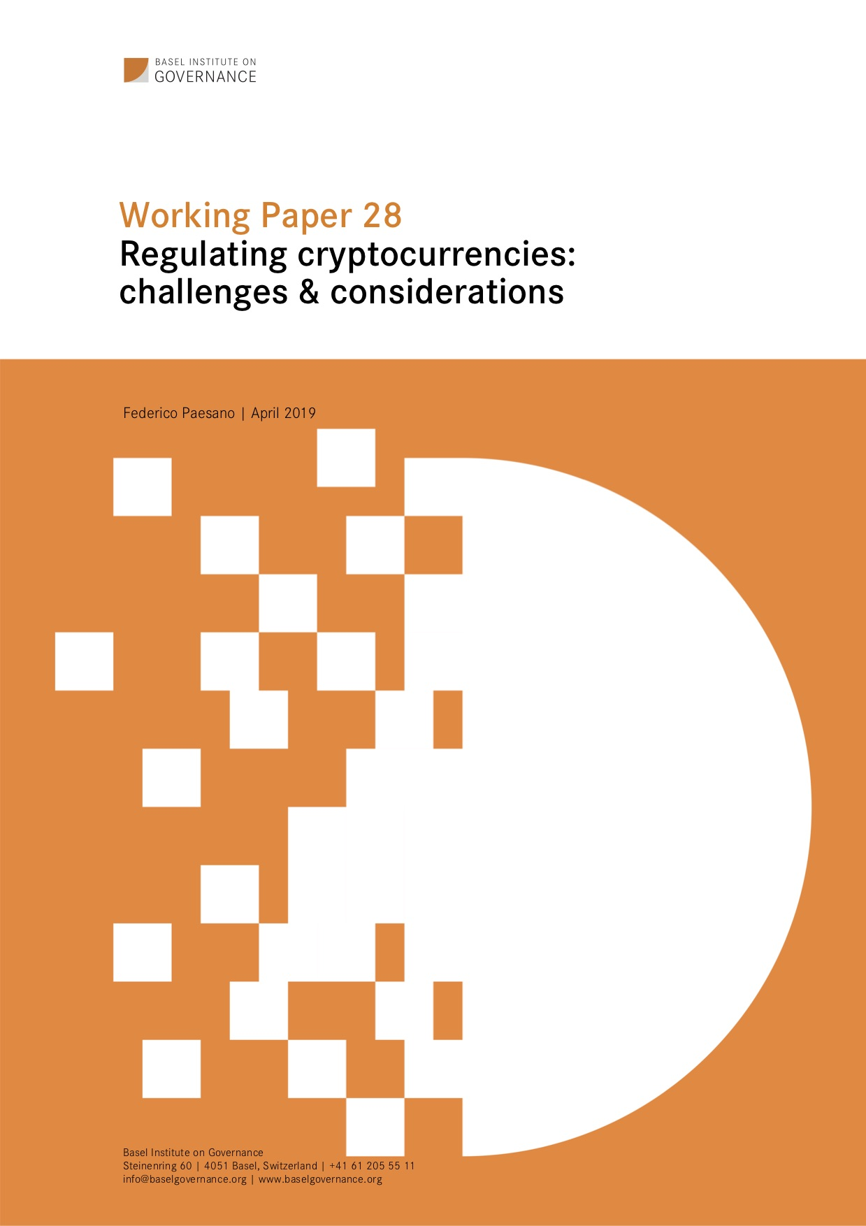 Working Paper 28 Regulating cryptocurrencies: challenges & considerations