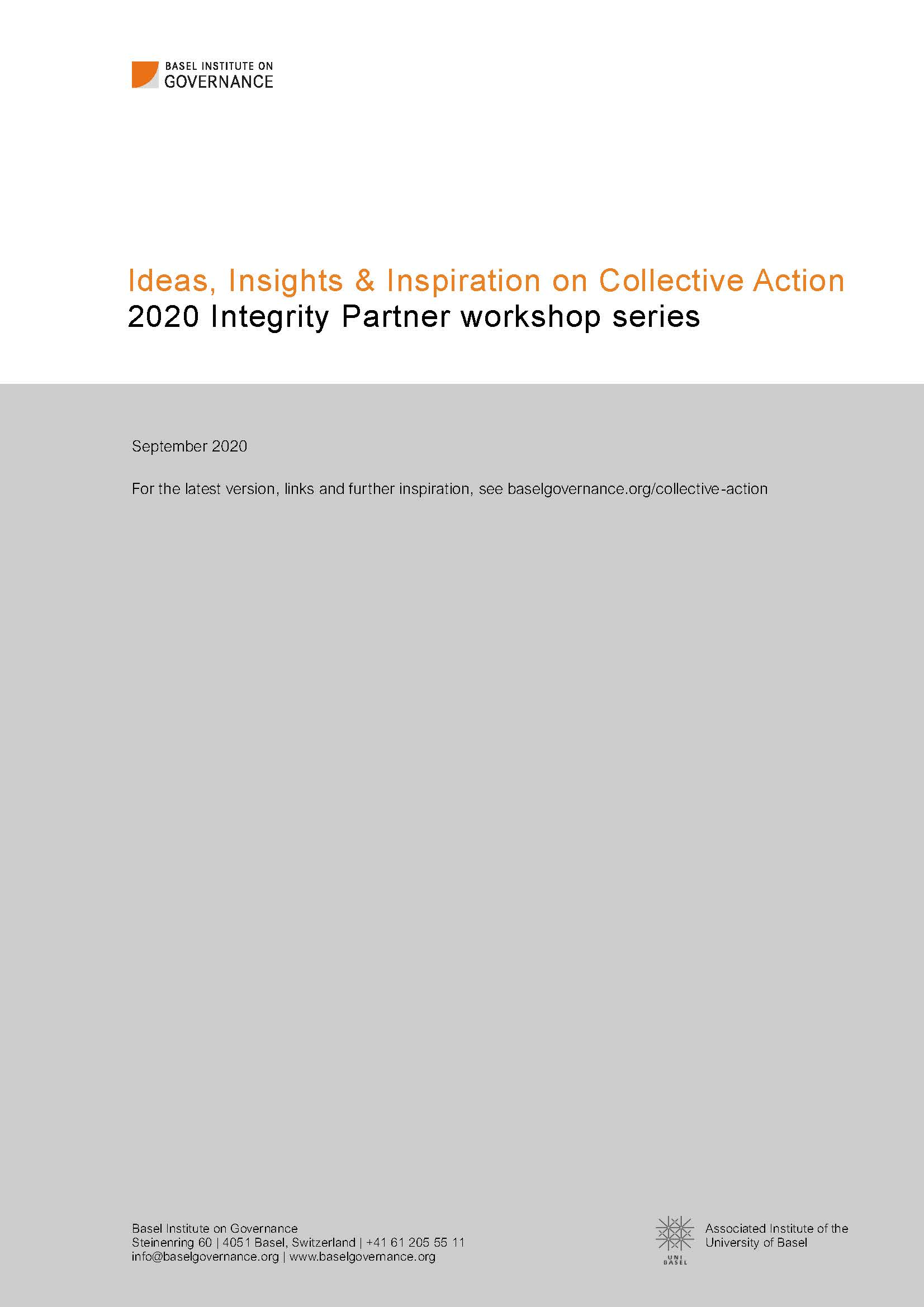 Cover page of Collective Action ideas, insights and inspiration
