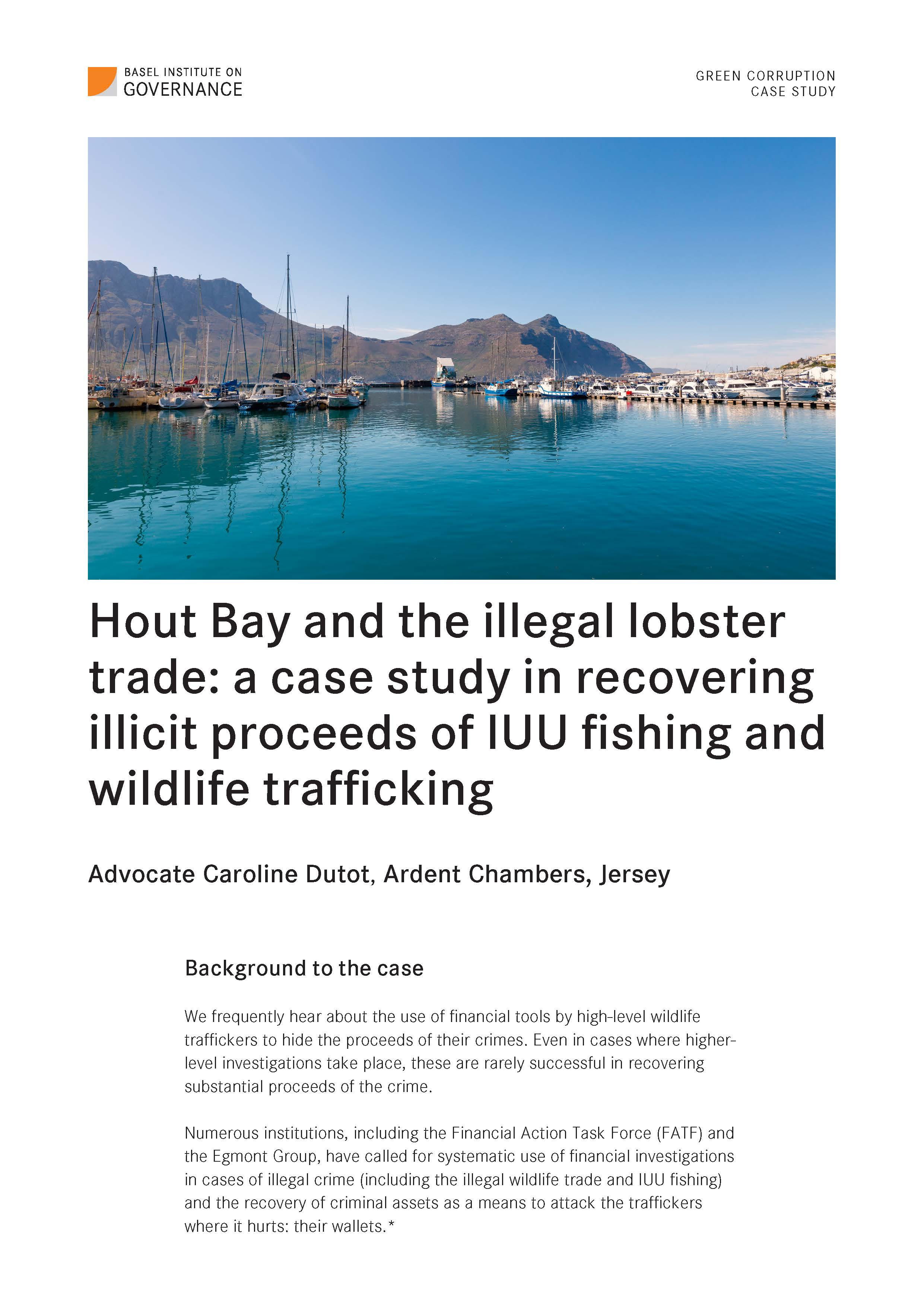 Cover page of Hout Bay Fishing Industries case study