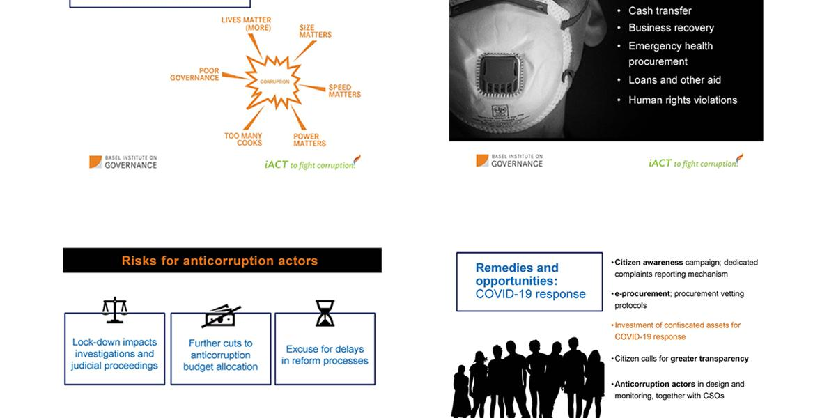 Gretta Fenner's slides at an ADB webinar on corruption risks in a crisis